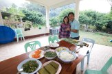 Pastor Ah Meh. and Milky Pha Mi village near Mae Sai, Thailand