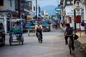 Typical street in Villa Comaltitlan, Mexico