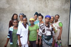 Elisa with Adera Foundation moms and co-workers