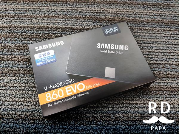 《SAMSUNG 三星 860 EVO 500G SATA3 2.5吋SSD固態硬碟 – 開箱分享》 | RD爸爸隨手記