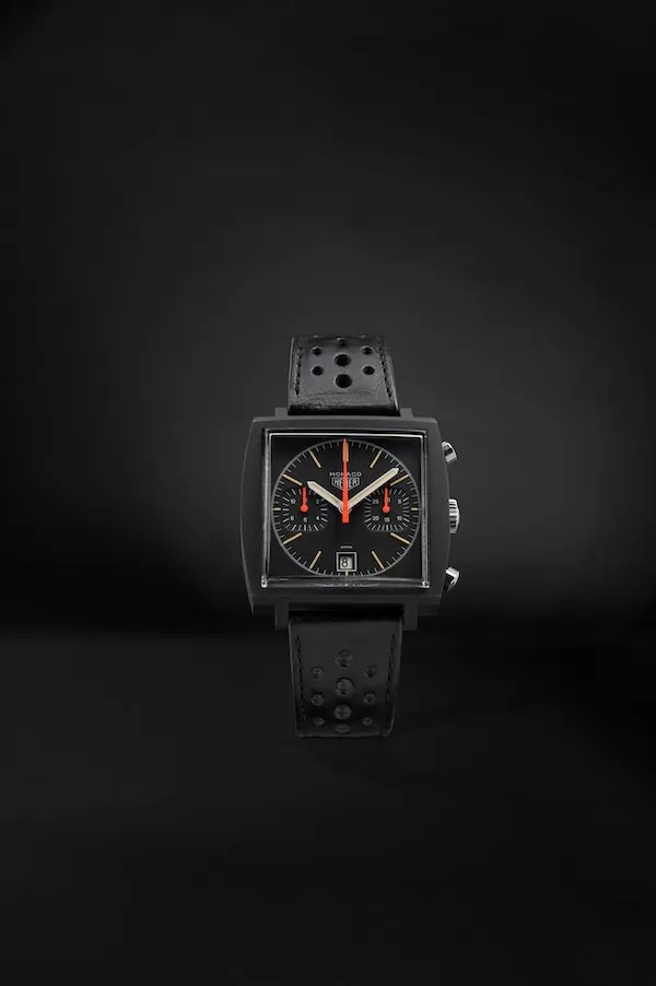 1979 TAG Heuer Monaco watch Dark Lord