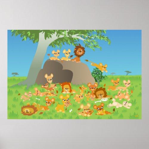 Cartoon Lion Pride custom print print