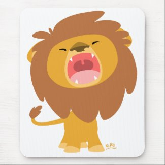 Cute Cartoon Roaring Lion mousepad mousepad