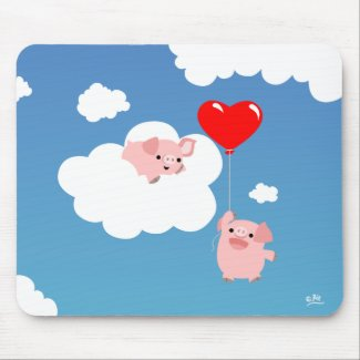 Valentine's day: The Wings of Love mousepad mousepad