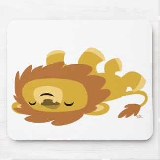 Cute Cartoon Lazy Lion mousepad mousepad