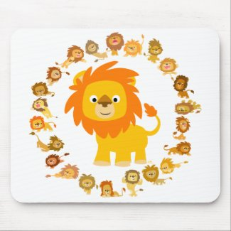 Cartoon Lion Mandala mousepad mousepad
