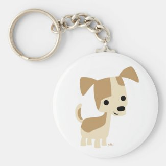 Inquisitive little dog cartoon keychain keychain