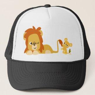 Cartoon Lion Dad and Cub hat hat