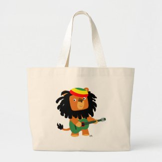 Lion of Zion beach bag bag