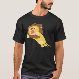 Very Hungry Cartoon Lion T-shirt shirt
