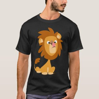 Silly Lion! cartoon T-shirt shirt