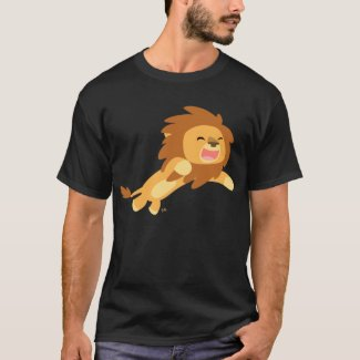 Joyful Cartoon Lion T-shirt shirt