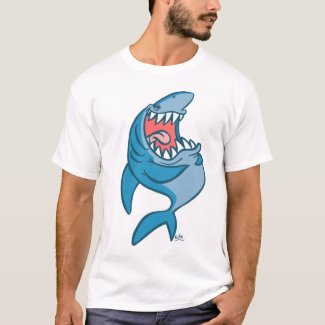 The Laughing Shark cartoon T-shirt shirt