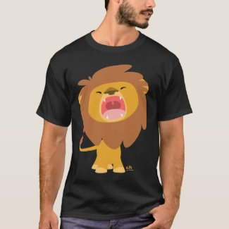 Cute Mighty Roaring Lion Cartoon T-shirt shirt