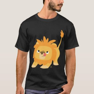 Ready to spring Cartoon Lion T-shirt shirt