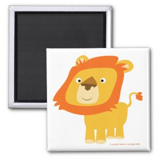 Cartoony lion magnet