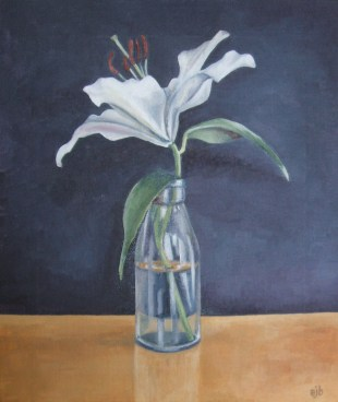 Bottled Lily In Full Flower (30.5x36cm)