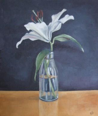 Bottled Lily In Full Flower (30.5x36cm)