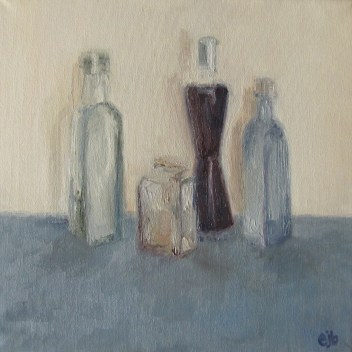 Bottles Through Surgery Eye II (30x30cm)
