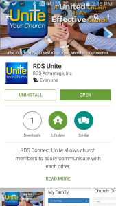 Google Play Store, RDS Unite