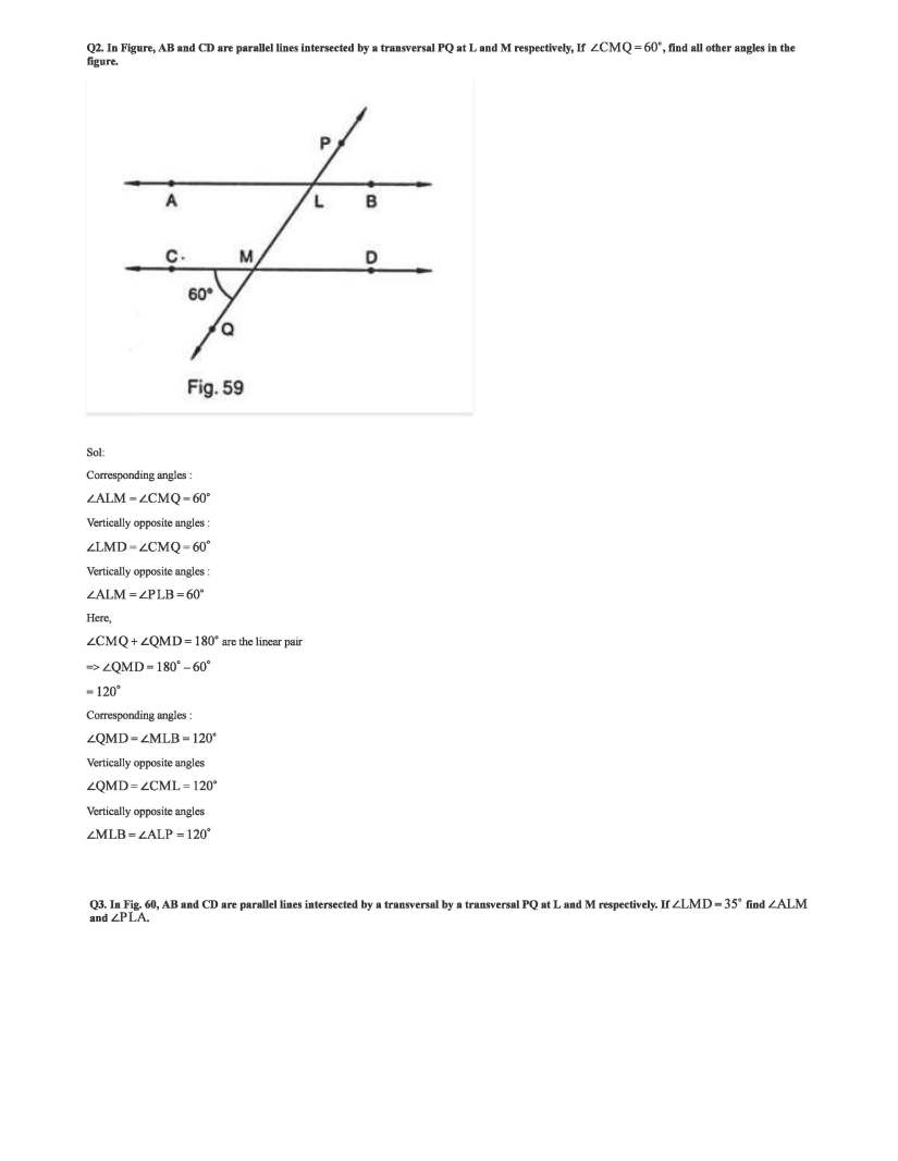 rd sharma class 7 solutions chapter 14 lines and angles exercise 14 2
