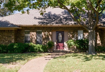 Our dallas sober living front of home