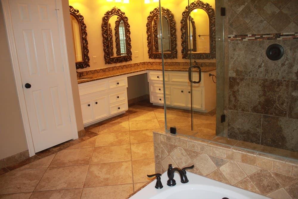 Master Bath at OG Plano Sober Living