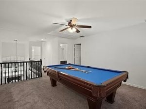 Pool table at our West Plano sober living
