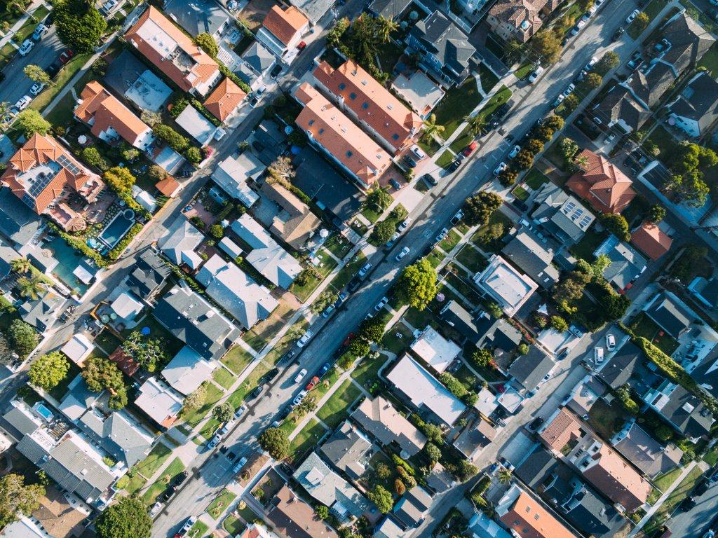 Neighborhood houses in Plano