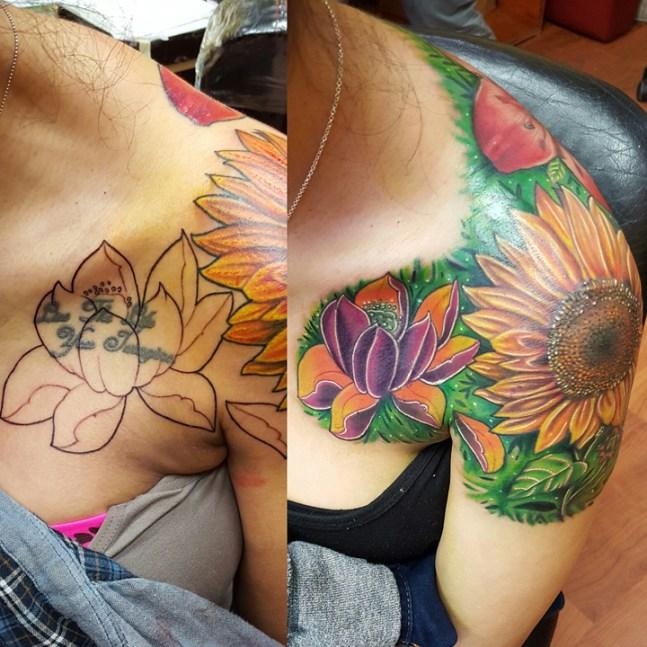 coverup_lotus_sunflower_ed_tattoo_idea