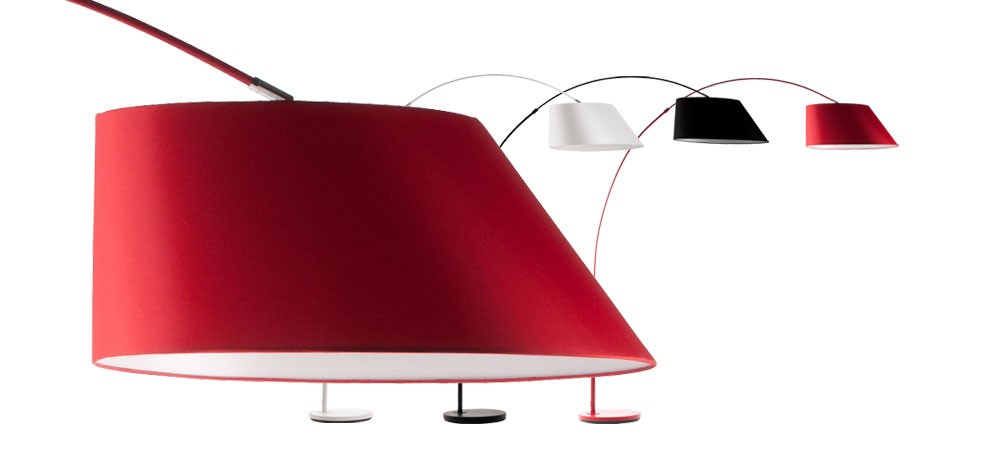lampadaire curve rouge
