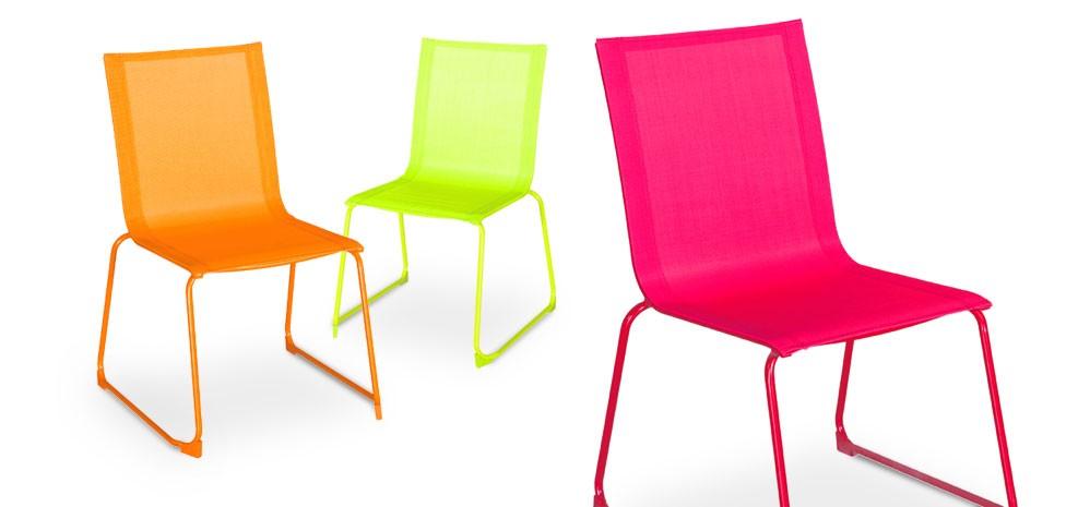 chaise de jardin verano rose lot de 2