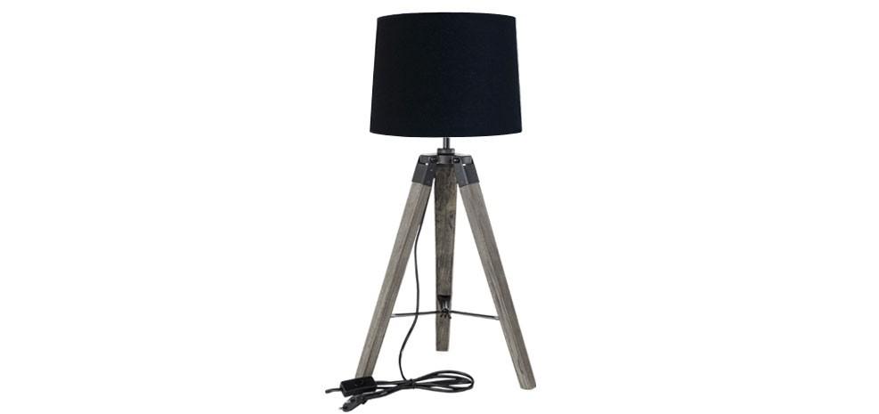 Lampe Trpied Noire  lampes  BAS PRIX  RDV Dco