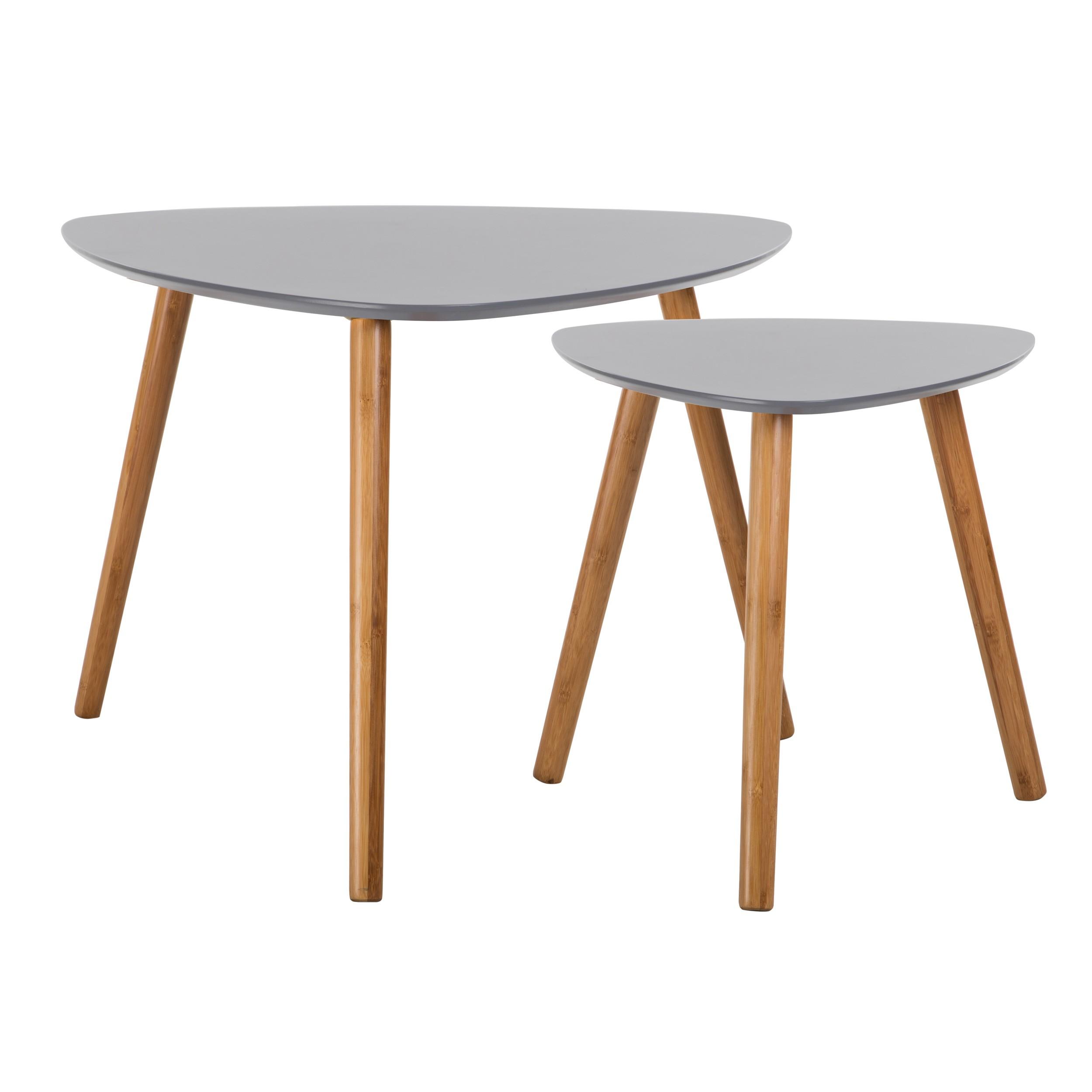 table basse scandinave grise lot de 2