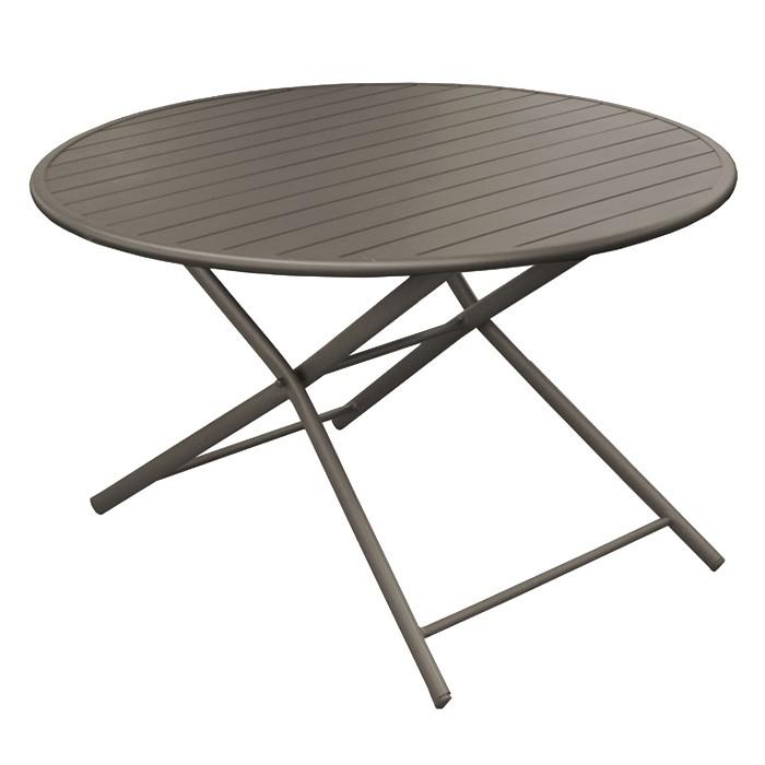table de jardin globe pliante cafe 120 cm