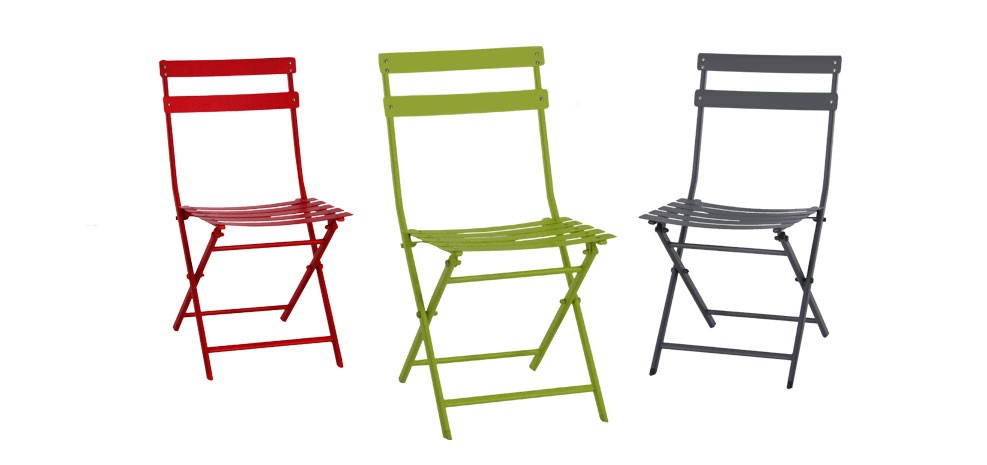 chaise de jardin balcony verte lot de 4