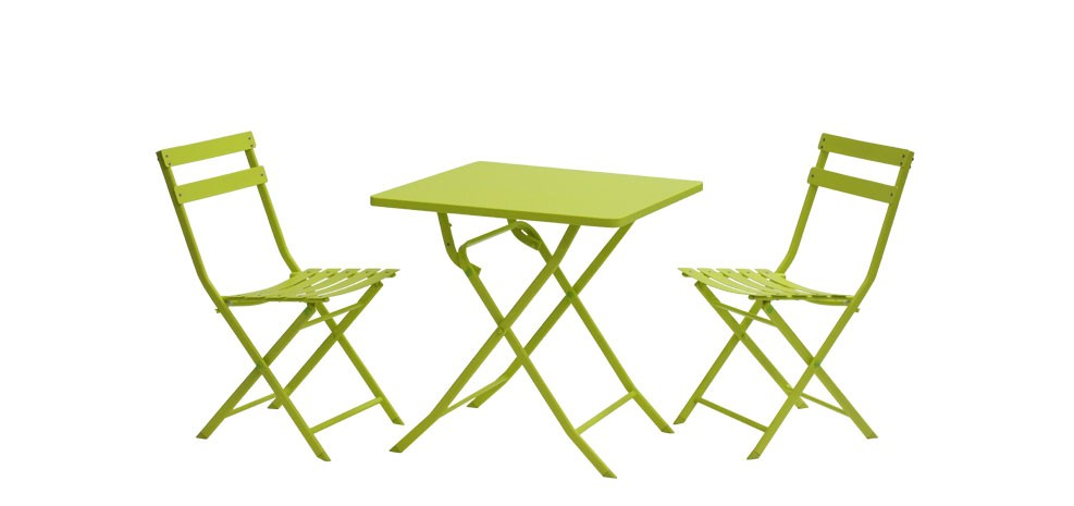 table de jardin balcony verte