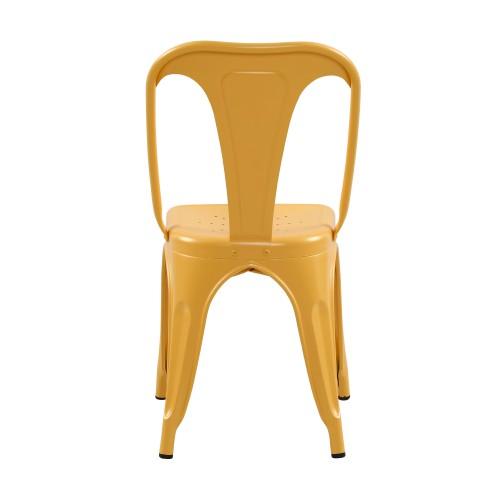 chaise indus jaune mat lot de 2