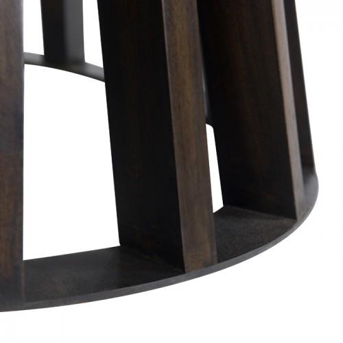 table ronde colette o110 cm en bois de manguier