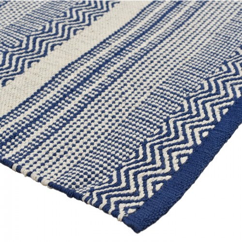 tapis bleu cesar en coton 200x300 cm