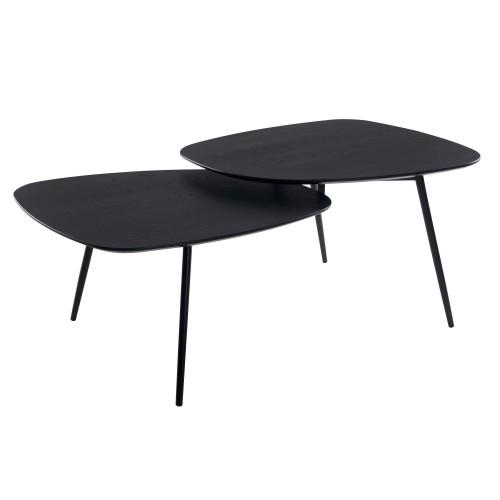 table basse noire loken