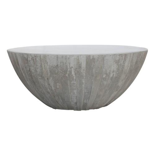 table basse ronde rumba beton