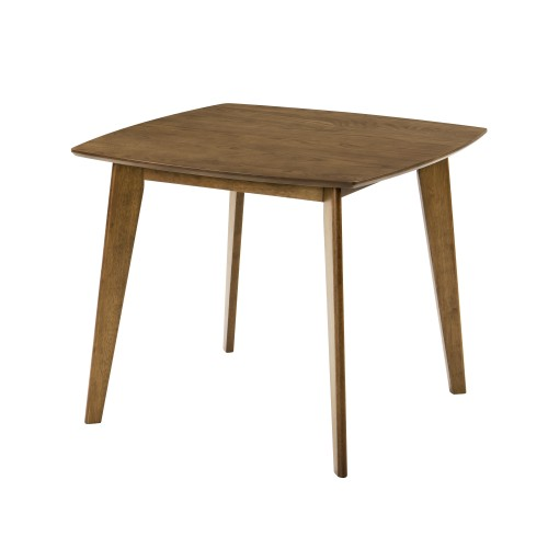 table carree julio 90 cm en bois fonce