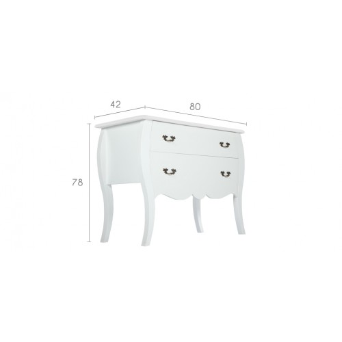 commode royale blanche