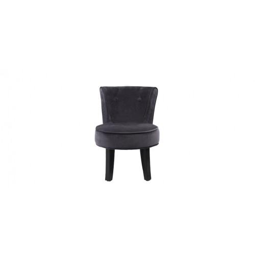 petit fauteuil crapaud velours gris