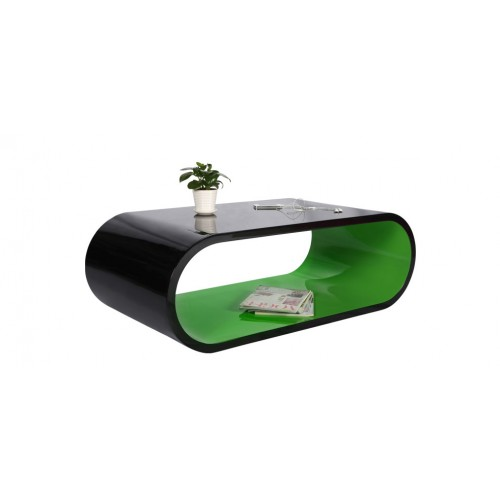 table basse tictac noire et verte