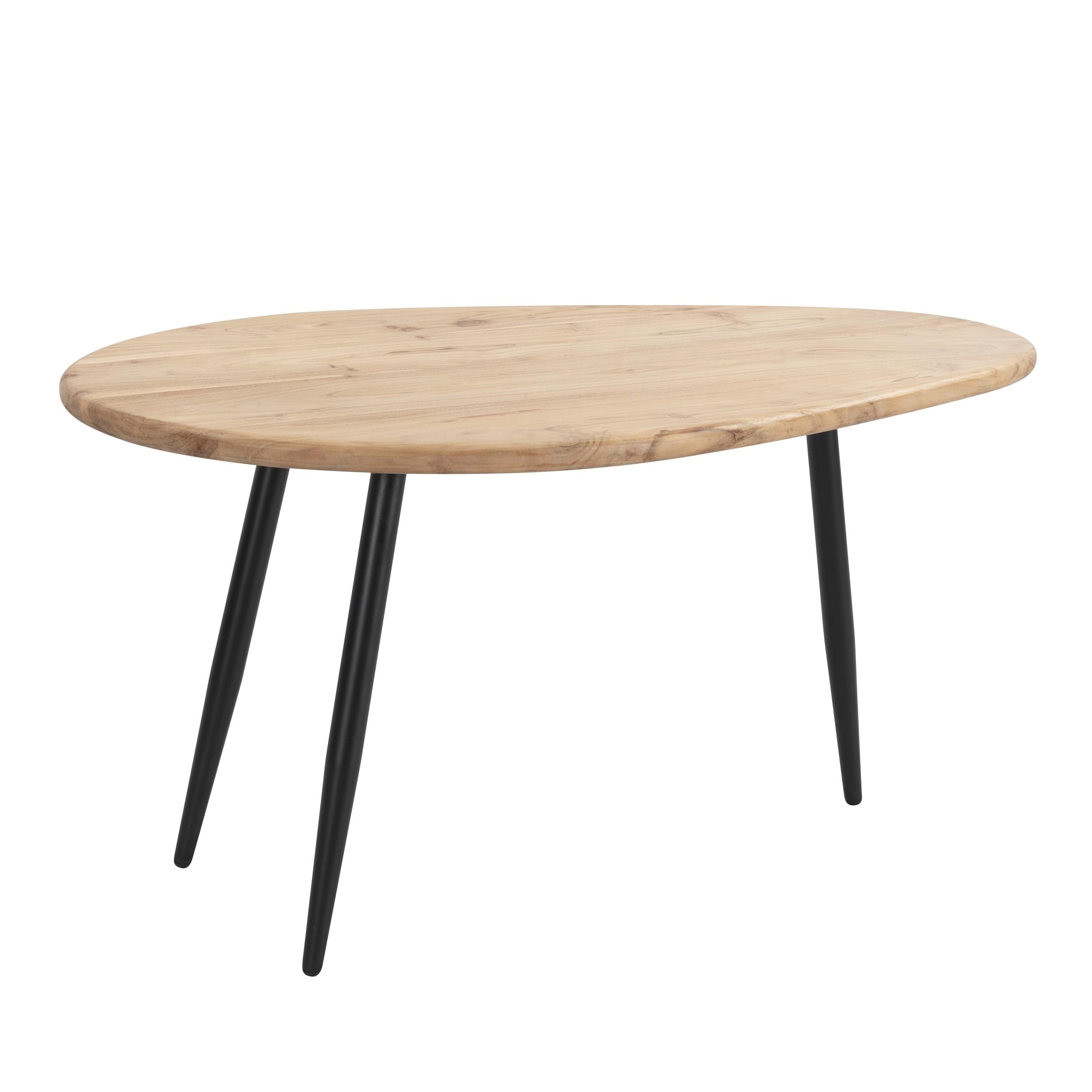 table basse mexico en bois d acacia et metal