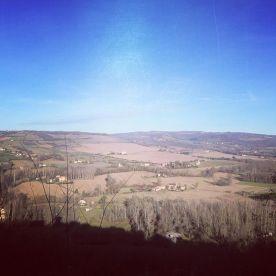 Vue depuis les hauteurs de Cordes-sur-Ciel