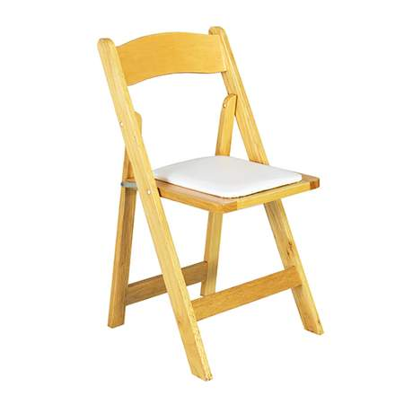 wooden folding chairs for rent conference table modern banquet chair rentals natural wood w tan seat