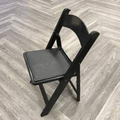 Black Padded Folding Chairs Zebra Office Chair Rentals